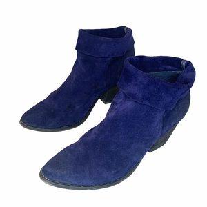 4/$40 - ALDO Blue Suede Heeled Booties - 9 (40)